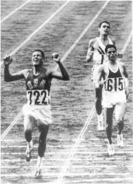 Billy Mills wins the 1964 Olympic 10,000m