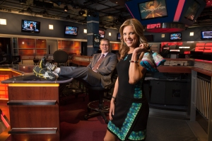 ESPN SportsCenter anchors John Anderson and Hannah Storm will handle play-by-play duties for the first national broadcast of the New York City Marathon in 20 years.
