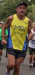 Dave McGillivray finishes his 60 mile birthday run.